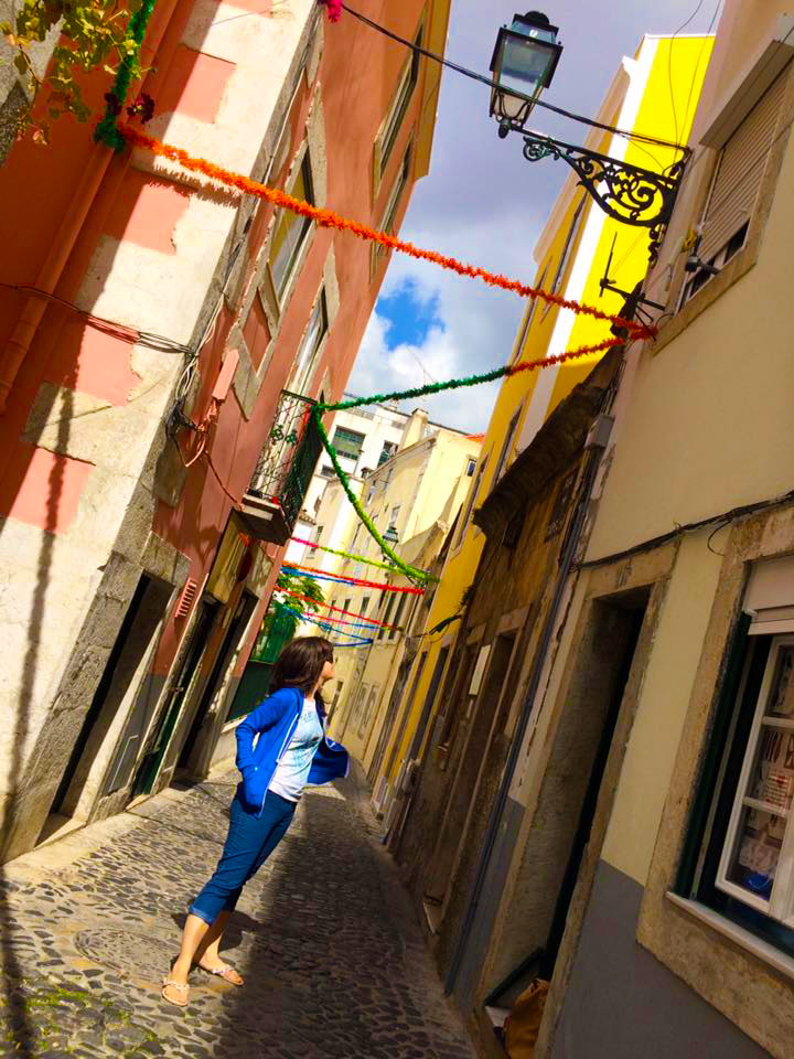 Ermy Pedata wandering around Lisbon