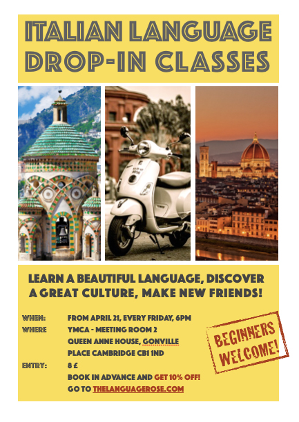 italian drop-in classes in Cambridge